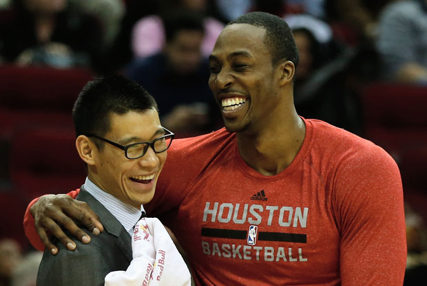 Jeremy Lin y Dwight Howard