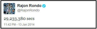 Rajon Rondo./ Twitter