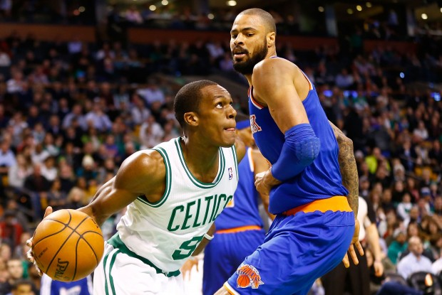 Tyson Chandler y Rajon Rondo./ Getty Images