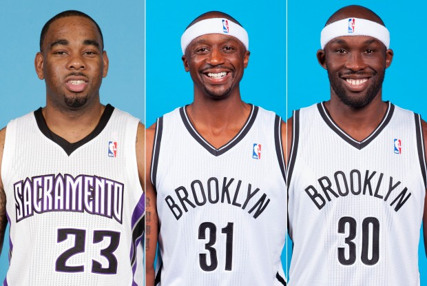 Marcus Thornton, Jason Terry, Reggie Evans./ Getty Images