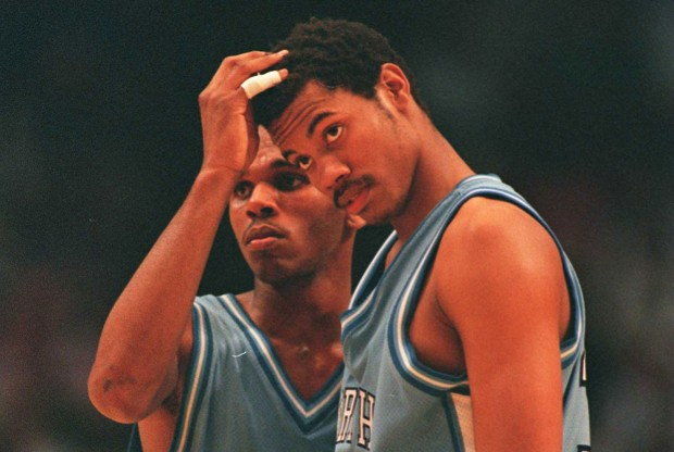 Jerry Stackhouse y Rasheed Wallace./ Getty Images