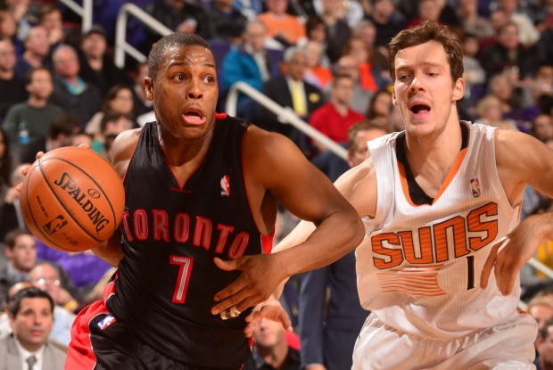 Kyle Lowry y Goran Dragic./ Getty Images