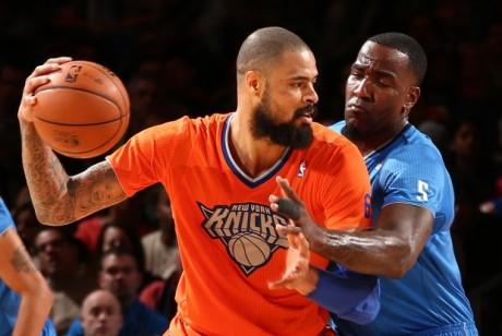 Tyson Chandler y Kendrick Perkins./ Getty Images