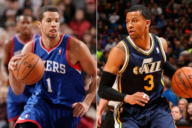Michael Carter-Williams y Trey Burke./ Getty Images