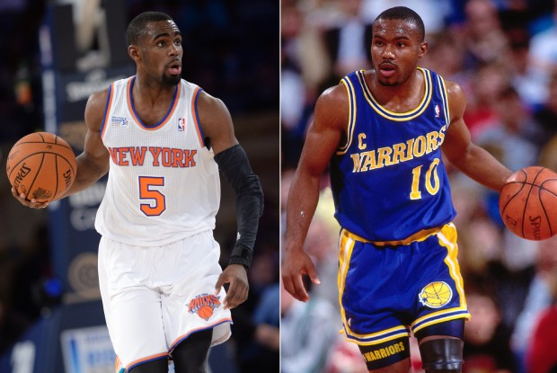 Tim Hardaway Jr. y su padre./ Getty Images