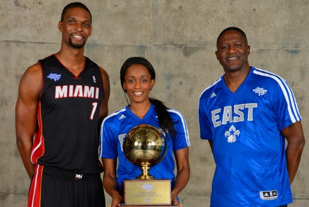 Bosh, Cash, Wilkins./ Getty Images