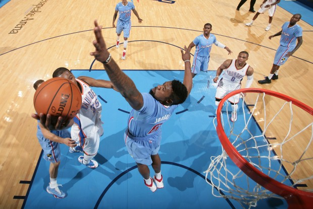 Oklahoma City Thunder vs. Los Angeles Clippers./ Getty Images