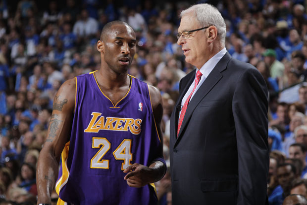 Kobe Bryant y Phil Jackson / Getty Images