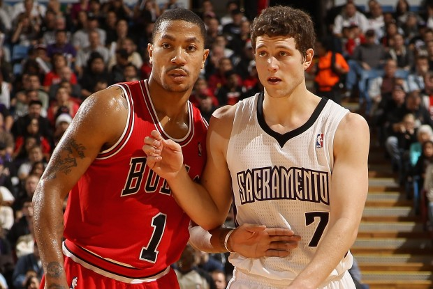 Derrick Rose y Jimmer Fredette./ Getty Images