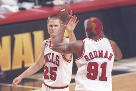 Steve Kerr y Dennis Rodman./ Getty Images