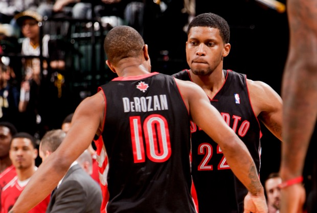 DeMar DeRozan y Rudy Gay./ Getty Images