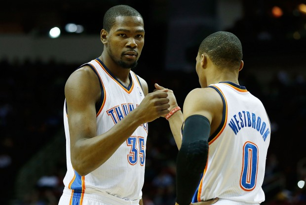 Kevin Durant y Russell Westbrook./ Getty Images