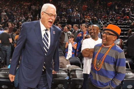 Phil Jackson y Spike Lee./ Getty Images