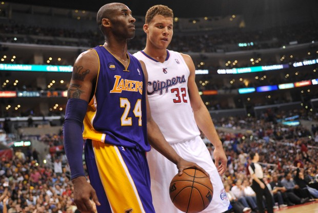 Kobe Bryant y Blake Griffin./ Getty Images