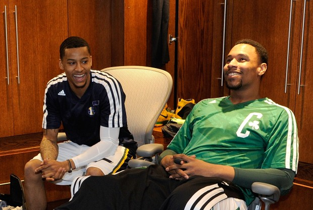 Trey Burke y Jared Sullinger./ Getty Images