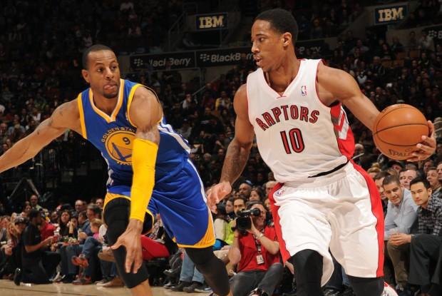 DeMar DeRozan y Andre Iguodala./ Getty Images