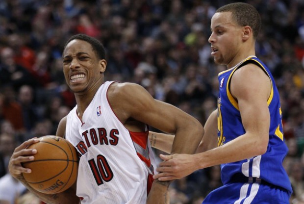 DeMar DeRozan y Stephen Curry./ Getty Images