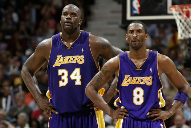 Shaquille O'Neal, Kobe Bryant./ Getty Images