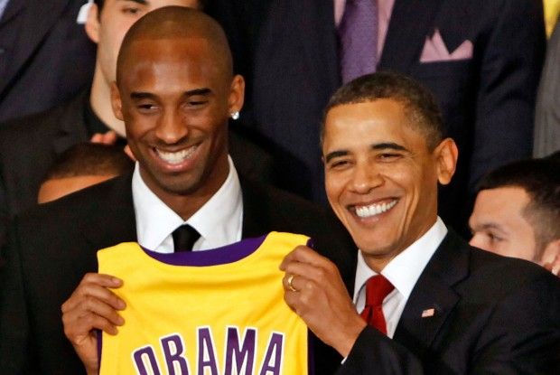 Kobe Bryant y Barack Obama./ Getty Images