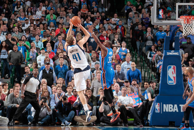Dirk Nowitzki y Kevin Durant / Getty Images