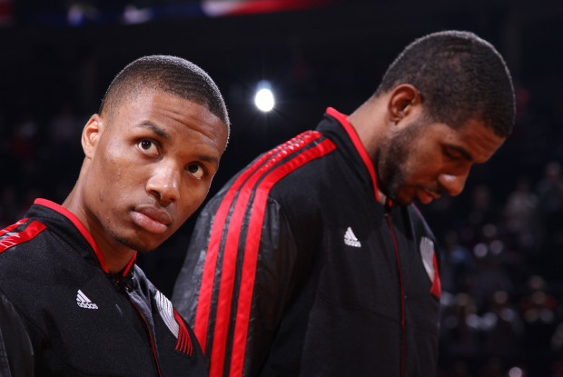 Damian Lillard y LaMarcus Aldridge./ Getty Images