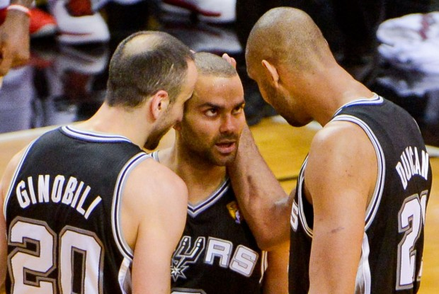 Manu Ginobili, Tony Parker y Tim Duncan./ Getty Images