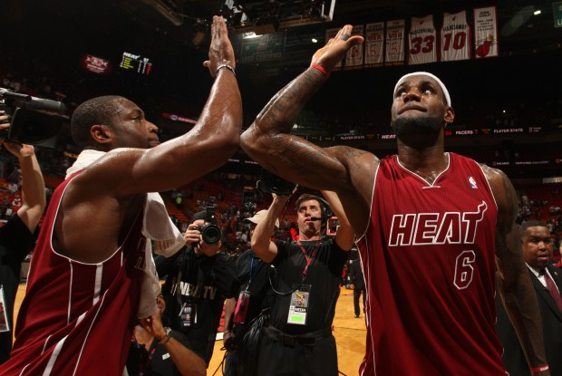Dwyane Wade y LeBron James./ Getty Images