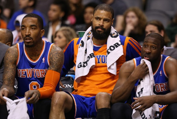 J.R. Smith, Tyson Chandler y Raymond Felton./ Getty Images