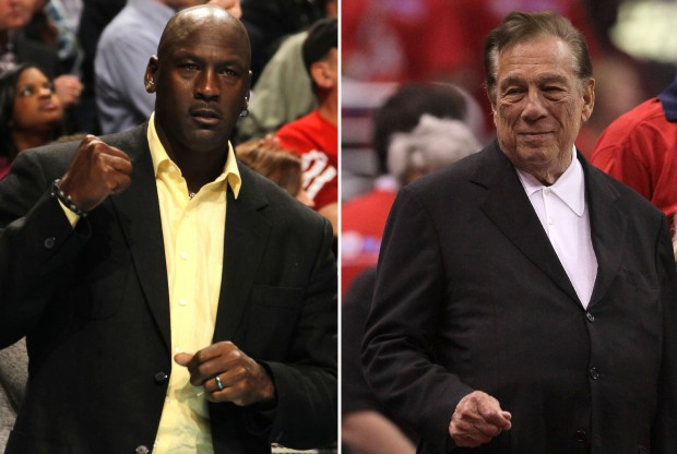 Michael Jordan y Donald Sterling./ Getty Images