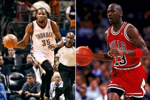 Kevin Durant y Michael Jordan./ Getty Images