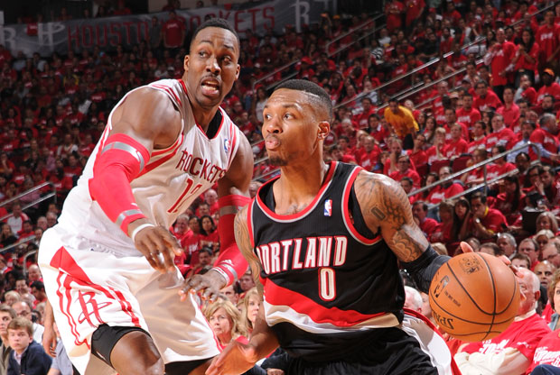 Dwight Howard y Damian Lillard / Getty Images