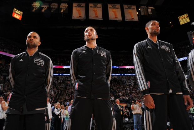 Tony Parker, Manu Ginobili y Tim Duncan./ Getty Images