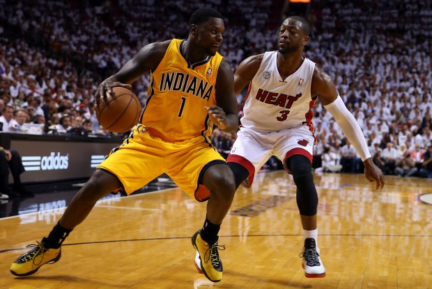 Lance Stephenson y Dwyane Wade./ Getty Images