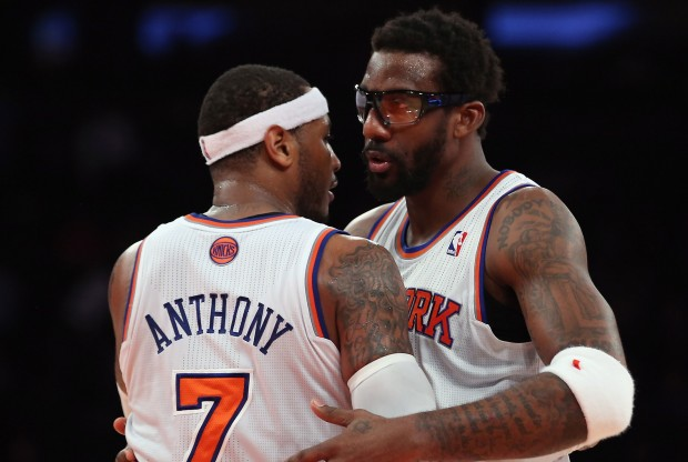 Carmelo Anthony y Amar'e Stoudemire./ Getty Images