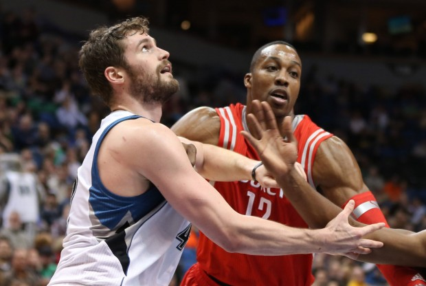 Kevin Love y Dwight Howard./ Getty Images