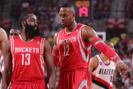 James Harden y Dwight Howard./ Getty Images
