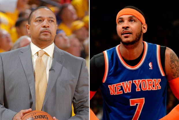 Mark Jackson y Carmelo Anthony./ Getty Images