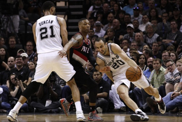 San Antonio Spurs vs. Portland Trail Blazers./ Getty Images