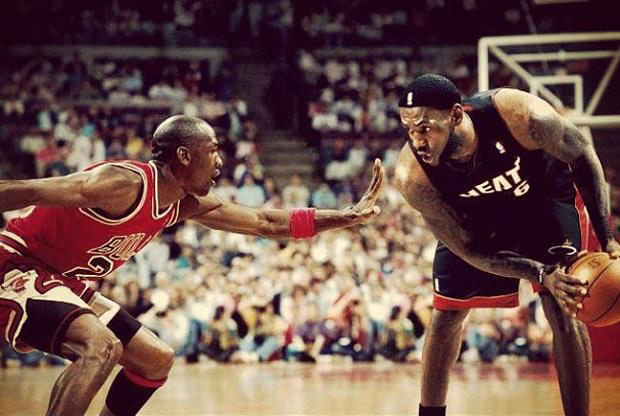Michael Jordan y LeBron James