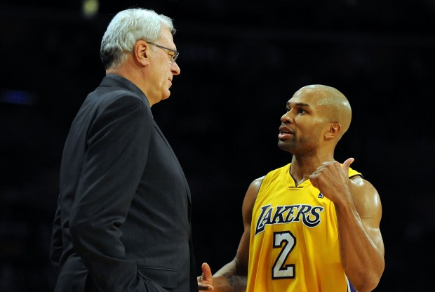 Phil Jackson y Derek Fisher./ Getty Images