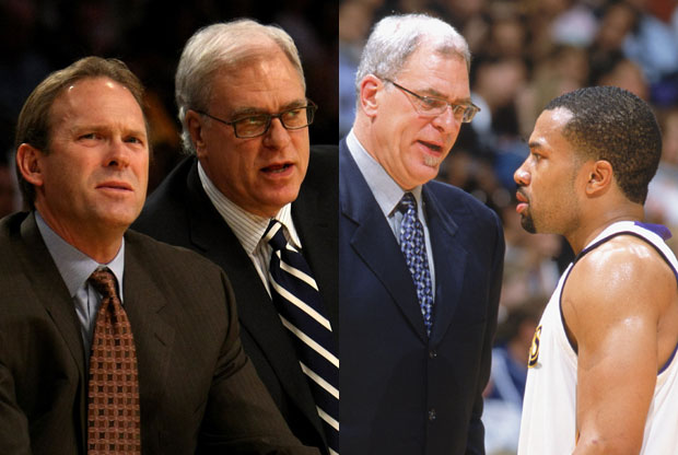 Kurt Rambis, Phil Jackson y Derek Fisher / Getty Images