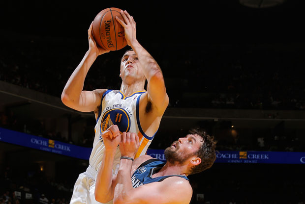 Klay Thompson y Kevin Love / Getty Images