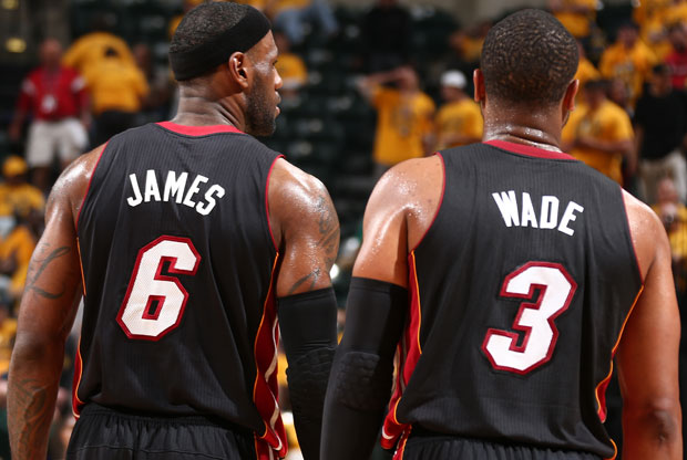 LeBron James y Dwyane Wade / Getty Images
