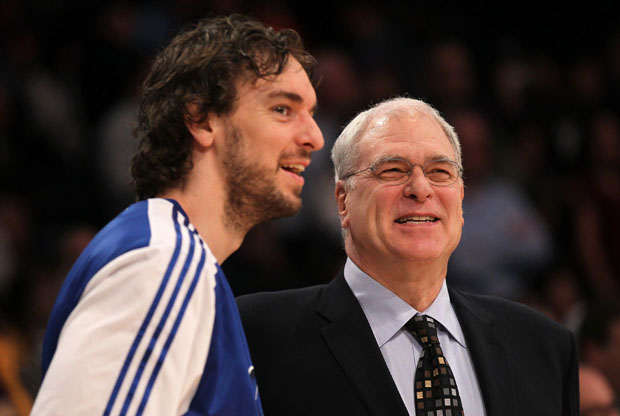 Phil Jackson y Pau Gasol / Getty Images