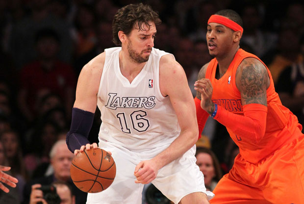Pau Gasol y Carmelo Anthony / Getty Images
