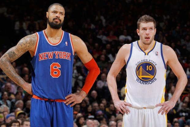 Tyson Chandler y David Lee./ Getty Images