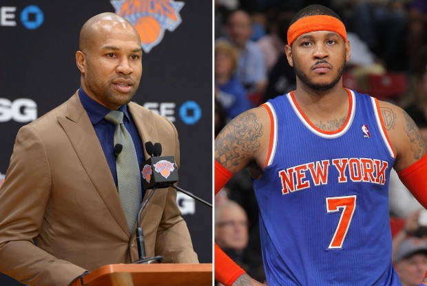 Derek Fisher y Carmelo Anthony./ Getty Images