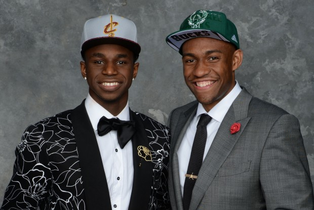 Andrew Wiggins y Jabari Parker./ Getty Images