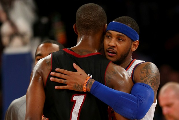 Chris Bosh y Carmelo Anthony./ Getty Images