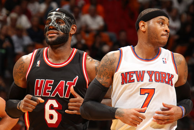 LeBron James y New York Knicks / Getty Images